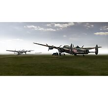 Lancasters on dispersal, colour version Photographic Print