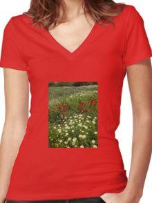 Springs beauty Women's Fitted V-Neck T-Shirt