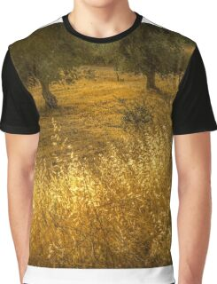 Golden corn in the olive grove Graphic T-Shirt