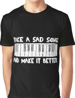 The Beatles Song Lyrics Hey Jude Inspirational White Title Graphic T-Shirt