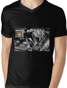 Shine On, Harley Davidson Mens V-Neck T-Shirt