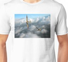 Battle of Britain Spitfire shoots down Messerschmitt Bf 109 Unisex T-Shirt