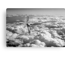 Spitfires turning in, black and white version Canvas Print