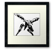Metal Gear Ray Silhouette Framed Print