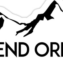BEND OREGON Mountain Skiing Ski Snowboard Snowboarding Sticker