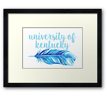 University of Kentucky Framed Print