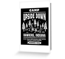Camp Upside Down Greeting Card