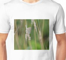 Silver Studded Blue Butterfly at Gwithian Nature Reserve in Cornwall. Unisex T-Shirt