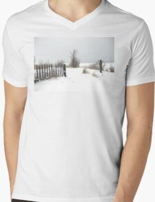 Snow and Sand Mens V-Neck T-Shirt