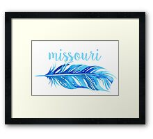 University of Missouri Framed Print