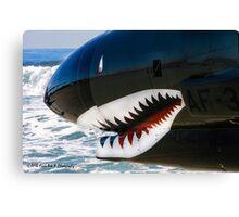 The Military Shark  Canvas Print
