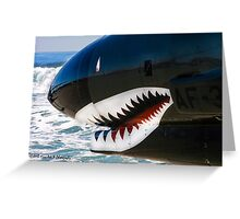 The Military Shark  Greeting Card