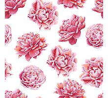 Pink Peonies Floral Pattern Photographic Print