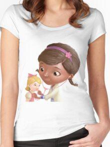 Doc McStuffins - Dr juguetes Women's Fitted Scoop T-Shirt