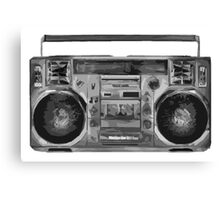 Simplistic Boom Box Canvas Print