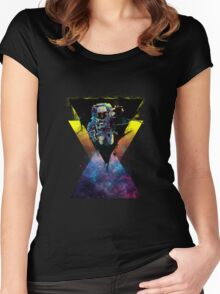 Black Hole Triangle Women's Fitted Scoop T-Shirt