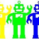 Robot Lives Matter Rainbow by Edward Fielding