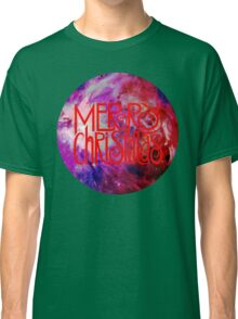 Merry Christmas nebula galaxy Classic T-Shirt