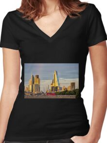 City of London Cityscape Women's Fitted V-Neck T-Shirt