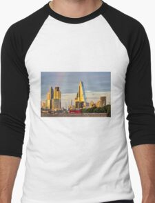 City of London Cityscape Men's Baseball ¾ T-Shirt