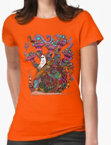 Snail Ride II Womens Fitted T-Shirt