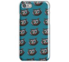 Cheshire cat pattern iPhone Case/Skin