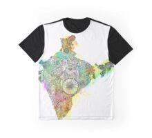 India + Saree + Zendoodle Graphic T-Shirt