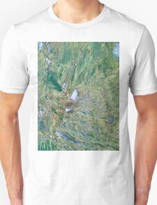 Mount St Helens Volcano Washington False Color Image Unisex T-Shirt