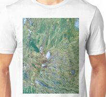 Mount St Helens Volcano Washington False Color Image Unisex T-Shirt