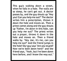 """I know the way out"" - speech from The West Wing Photographic Print"