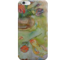 Bird With A Rose 2 iPhone Case/Skin