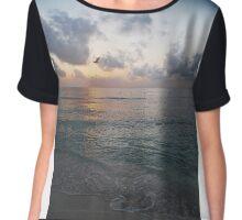 Playa del Carmen Sunrise #4 Chiffon Top