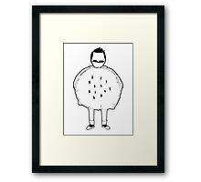 Gener Belcher: Hamburger Costume Framed Print