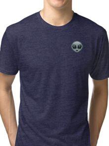 Pixel Alien Emoji  Tri-blend T-Shirt