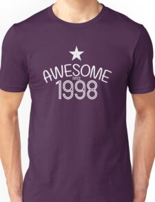 Awesome Since 1998 Birthdays Anniversaries Unisex T-Shirt