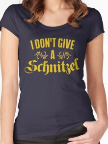 I Don't Give A Schnitzel Women's Fitted Scoop T-Shirt