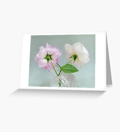 Two Vintage Roses Greeting Card