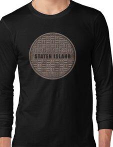 NYC Manhole Lid: Staten Island Long Sleeve T-Shirt