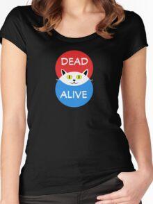 Schrödinger's Cat - Dead and Alive - Venn Diagram T Shirt Women's Fitted Scoop T-Shirt