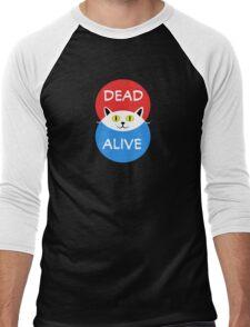 Schrödinger's Cat - Dead and Alive - Venn Diagram T Shirt Men's Baseball ¾ T-Shirt