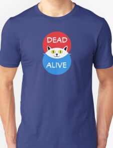 Schrödinger's Cat - Dead and Alive - Venn Diagram T Shirt Unisex T-Shirt
