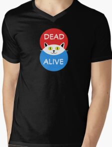Schrödinger's Cat - Dead and Alive - Venn Diagram T Shirt Mens V-Neck T-Shirt