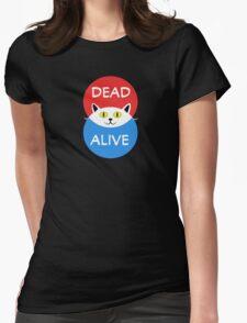 Schrödinger's Cat - Dead and Alive - Venn Diagram T Shirt Womens Fitted T-Shirt