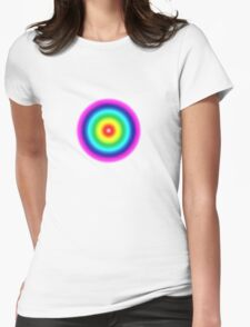 Colorful circles Womens Fitted T-Shirt