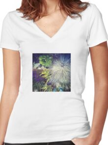 Succulent Exploration Women's Fitted V-Neck T-Shirt
