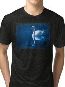 Beautiful Swan on the Lake  Tri-blend T-Shirt