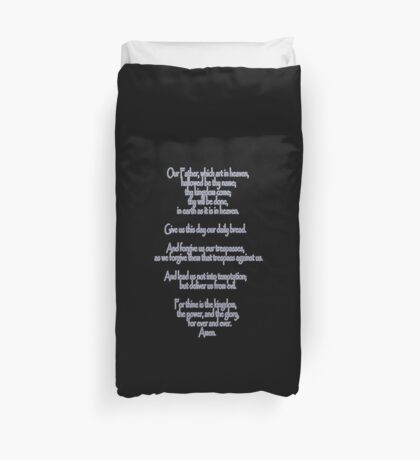 Lord's Prayer, Our Father, Pater Noster, Christianity, Jesus Duvet Cover