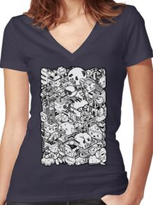 Welcome to Isometric City! Women's Fitted V-Neck T-Shirt