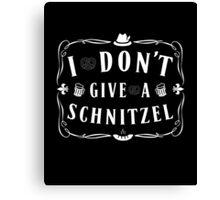 Funny Phrase I Don't Give a Schnitzel Canvas Print