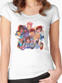 Girls of Overwatch! Women's Fitted Scoop T-Shirt